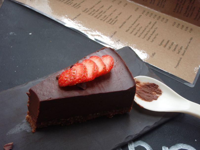 Suklaakakku Lontoossa.