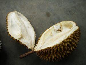 Avattu durian.