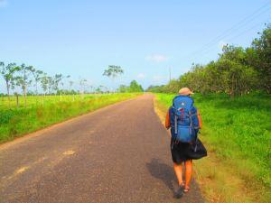 Kävelemässä Belizessä blogin alkuaikoina.