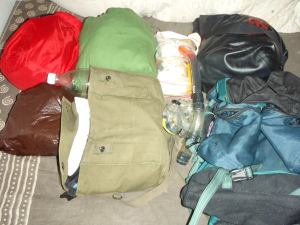 Edellisen reissun matkatavarat, ks. pakkauslista silloin.