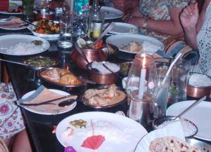 Jouluruokapöytä Goalla 2011 ei sisältänyt mitään samaa kuin kotijouluina.