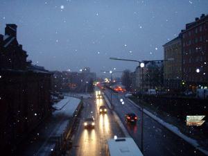 Liikennettä Helsingissä.