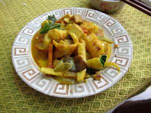 Massaman curry oli niin hyvää, kuten muutkin kokkailumme kurssilla.