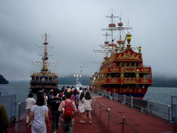 Lautat Japanin Hakonessa.