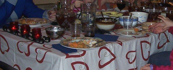 Jouluruokapöytä 2009.