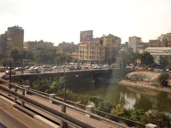 Vehreämpää näkymää Kairossa, joka muutoin näytti hyvin kuivalta kaupungilta.