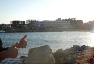 Taas eräs keskeneräinen näkymä Hurghadassa.