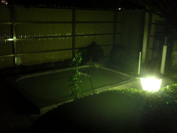 Tunnelmallinen kuumavesiallas Fuji Hakone Guest Housessa.