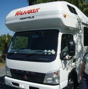 Matkailuautomme Uudessa-Seelannissa.