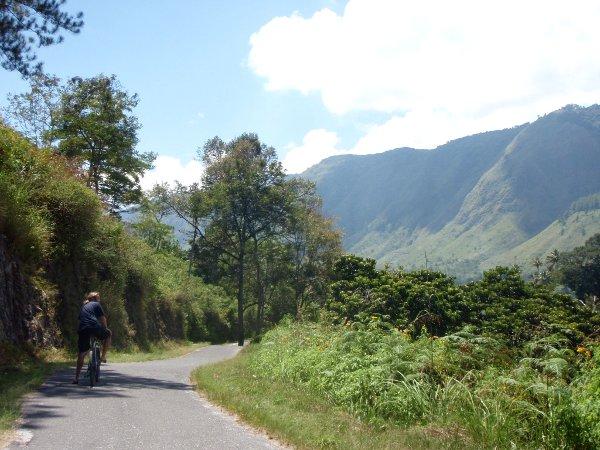 Lake Toban Samosirin saarella oli kiva myös pyöräillä.