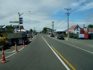 Uudessa-Seelannissa oli paljon tylsiä ja rumiakin pikku kaupunkeja.