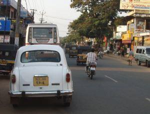 liikennettä Keralassa
