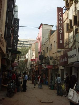 Khan Market Delhissä.