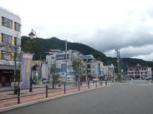 Kawaguchi-kon bussiaseman tienoo ei ollut erityistä.
