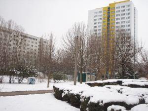 Rumia kerrostaloja Berliinin Mitten lähistöllä.