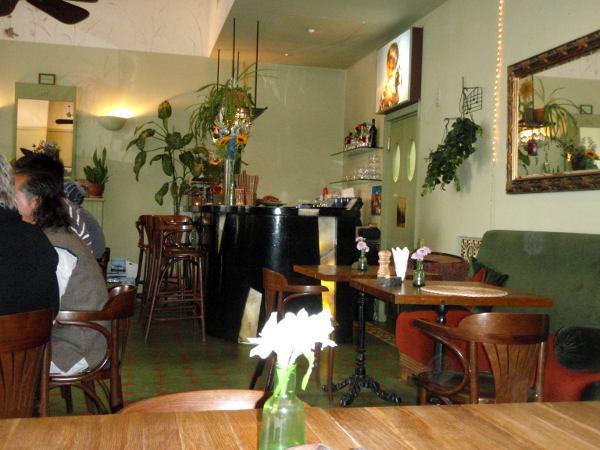 Cafe Botanika sisältä.
