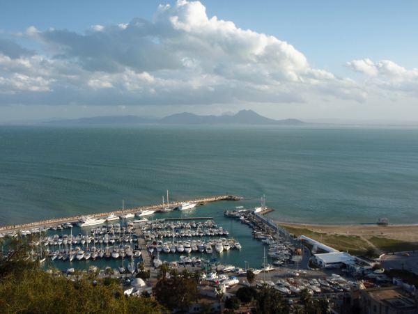 Sidi Bou Saidin marina.
