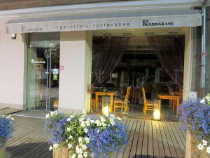 Bongasimme Kaunasin kävelykadulta myös kasvisravintolan.