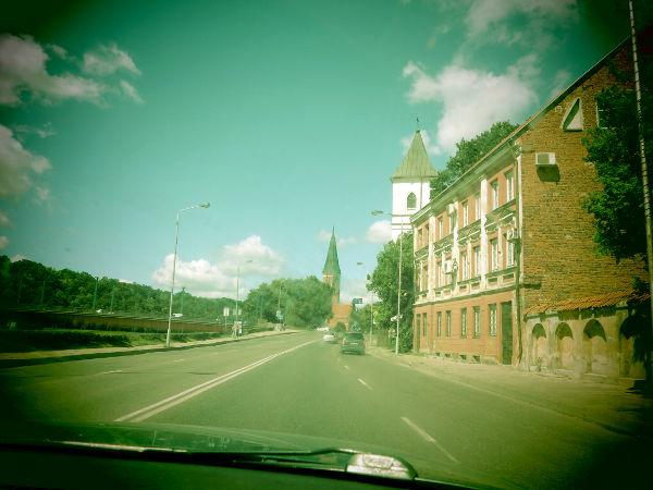 Matkalla pois Kaunasista.