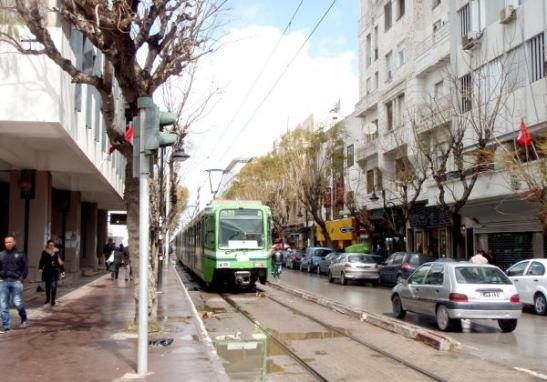 Tunisin raitiovaunu.
