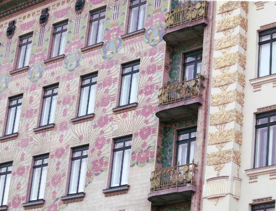 Kukikasta seinäpintaa Wienissä.