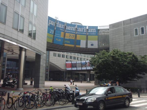 Europarlamenttirakennuksilla oli siellä käydessäni tavallista hiljaisempaa, koska oli oli Strasbourg-viikko.