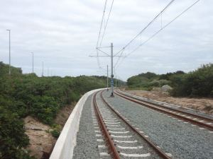 Belgian rannikolla kulkee rata, jota pitkin olisi päässyt lähekkäin sijaitseviin rantakyliin.