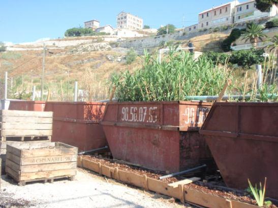 Leirille oli kehitelty ekologinen suihkuveden puhdistusjärjestelmä.