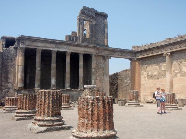 Pompein raunioita.