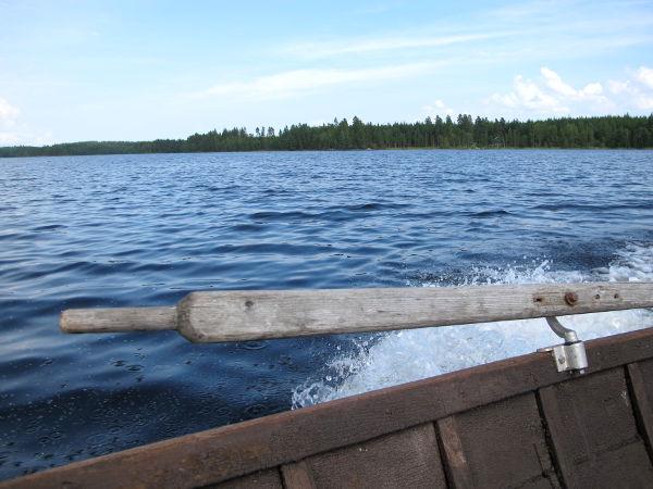 Veneilin hieman Saimaalla.