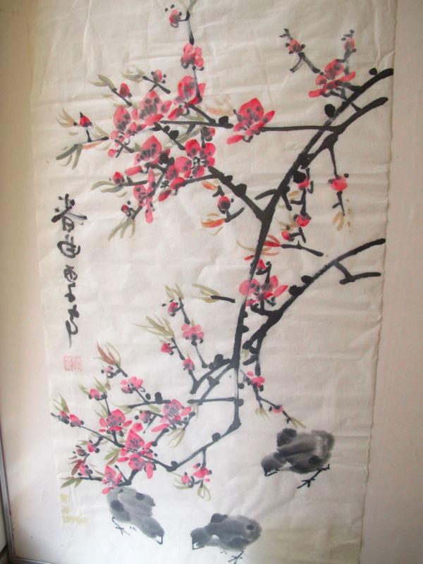 Tykästyin suuresti tähän vanhempieni tuomaan Japanin tuliaiseen. Kirsikankukkamaalaukset ovat vain nättejä.