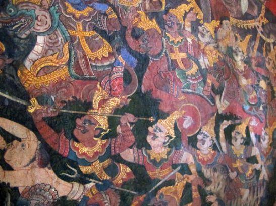 Seinämaalauksissa kerrotaan tarinoita.