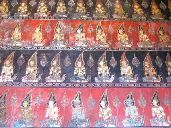 Temppelin seinämaalaukset.