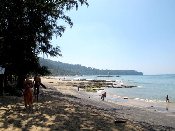 Khao Lakin rannan eteläpää.
