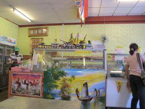 Surat Thanin kasvisravintola sisältä.