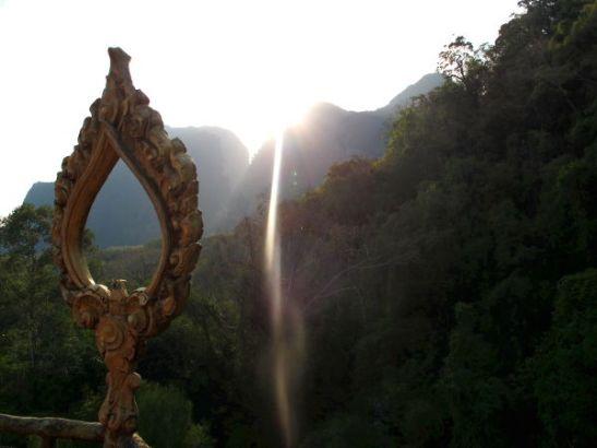 Ta Pan -temppeliltä näkymä auringonlaskun aikaan.