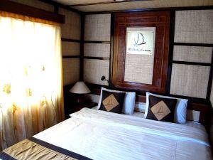 Huoneemme veneessä.