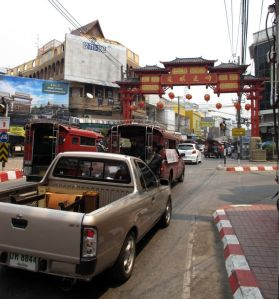 Chiang Main pienen Chinatownin portti.