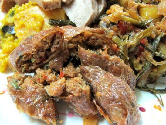 Ming Kwanin mausteista kasvismakkaraa.