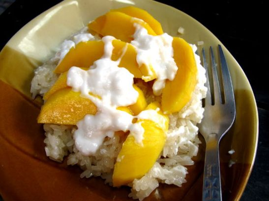 Mango sticky rice.