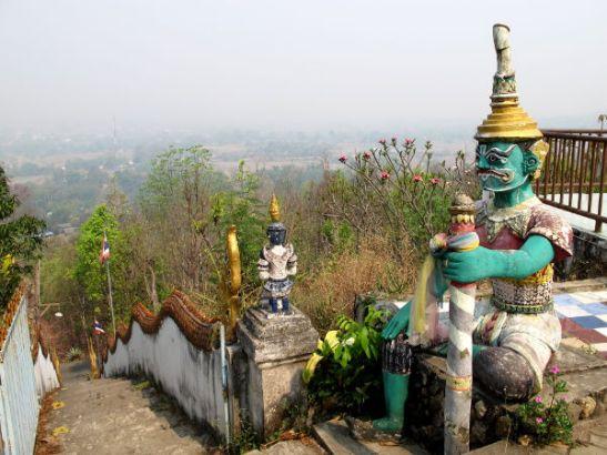 Näkymä temppeliltä Pain laaksoon.