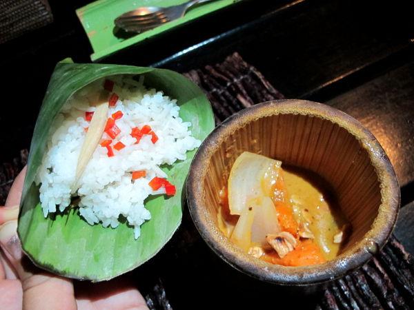 Kolmas ruoka: massaman curry. Time for Limessa voi olla varma että currytahna on kasvista.