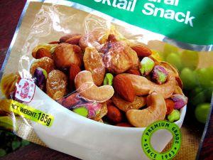 Koh Lantalla piti syödä kioskien pähkinöitä paljon, koska ruoat olivat usein vähäproteiinisia.