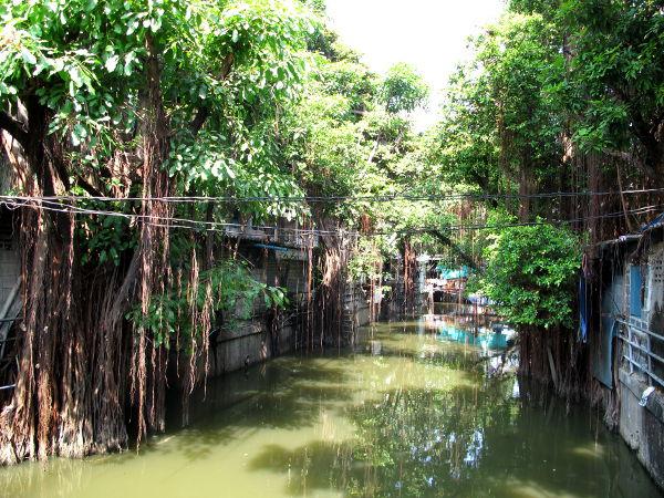 Khlong-kanava Thieves Marketin vieressä.