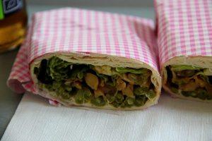 Kebab-nimellä kulkeva kasviswrappi oli ok.