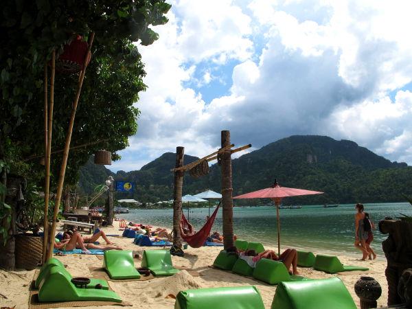 Da Lam -rantaa Chill Out Barin edessä.