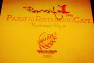 Parsifalin menun kansi.