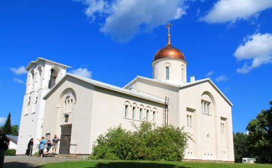 Valamon luostarin uusi kirkko.