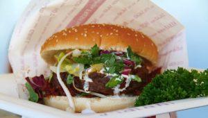Soul Mama´sin burgeri tai oriental seitan kebab burgeri.