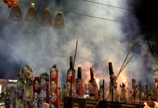 Savua syntyi paljon temppeliareenalla, joka oli ihan suunniteltu niin että savu pääsee ulos.